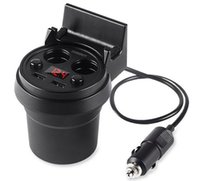 NOUVEAU Chargeur de Voiture de Coupe 5V 3A Dual Adaptateur USB Voltage Voiture LED Screen Display 2 Car Cigarette Lighter Auto Charger Cup Titulaire