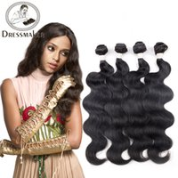 Barato Europeus Virgem Cabelo Tecer Por Atacado-Atacado Unprocessed Brazilian Hair Mongol European Vietnamese Russian Virgin Human Hair Tece 3 ou 4 Pieces Body Wave Hair Bundles