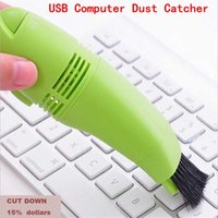 Wholesale mini dust collectors - Mini USB Vacuum Keyboard Cleaner Dust Collector LAPTOP Computer PC Tool, Cleaner ,dust catcher ,keyboard cleaner