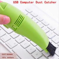 мини-пылесос для пк оптовых-Мини USB вакуумные клавиатуры очиститель пылеуловителя для ноутбука компьютера PC инструмент, очиститель ,улавливатель пыли ,клавиатуры пылесос