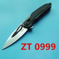 Wholesale Bearing Self - ZT Zero Tolerance 0999 ZT0999 ZT0999CF balll bearing G10 handle flipper Folding xmas gift knife BM42 BM43 BM47 BM49 3300 3310 1pcs