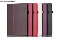 microsoft flip cover großhandel-Falten Sie Stand Flip Leder Smart Magnetic Case mit Stifthalter für Microsoft Surface 3 Pro 3 4 Pro3 12 Zoll 10.8 Zoll Surface3 Pro4 12.3