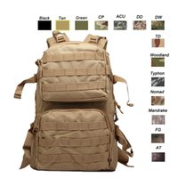 Wholesale Outdoor Sports Waterproof Tactical Pack Bag Rucksack Knapsack Assault Combat Camouflage Tactical Camo Molle Backpack NO11 B