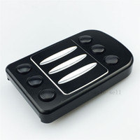 Wholesale For HARLEY BRAKE PEDAL COVER TOURING GLIDE SOFTAIL Edge Cut Large PARTS BLACK