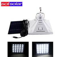 Wholesale Powered Systems - Wholesale-SOLSOLAR 2016 New 25pcs 3528 Portable Solar Powered Led Lighting System, Work Time 7 Hours Solar Rechargeable Energy Bulb