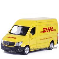 ingrosso lega espressa-Modello in scala 1:36 in metallo pressofuso in lega auto modello per Sprinter DHL consegna Van Courier Vehicle Collection modello licenza tirare indietro i giocattoli