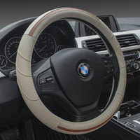 Wholesale New Leather Steering Wheel Cover - New Type Universal Leather Car Steering Wheel Cover Fit For Diameter 38cm Steering Wheel