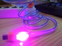 LED que fluye visible Cable USB para flasheo visible 1M 3FT Sincronización de datos Cable colorido para iluminación