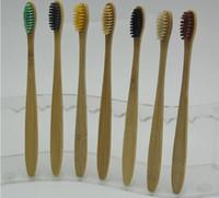 gebrauchte zähne großhandel-Qualitäts-Bambuszahnbürste Naturumweltschutz Zähne Gesundheit Bambusgriff Weiche Reise Toothbrushes Hotel Nutzung