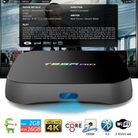 16 convertidor al por mayor-T95R Pro Smart Box TV completamente cargado TV Box Converter 2 GB 16 GB Amlogic S912 Octa Core 4k H.265 Android 7.1 Google TV BOX