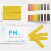 prueba de ph prueba de tira al por mayor-Venta al por mayor- Analizadores de medidores de pH partables 80 Tiras Papel de pH Gama completa 1-14 Tiras de papel de prueba universales de pH Suministro de alta calidad