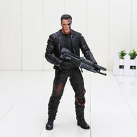 Wholesale Action Figure Bags - The Terminator T-800 Arnold Schwarzenegger 18cm PVC Action Figure Collection Model toys good Gift kids toys with opp bag