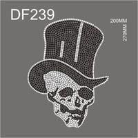 siyah elmas taşlı oval toptan satış-DF239 # Sıcak Düzeltme rhinestone Kafatası siyah tarzı çin fabrikadan konfeksiyon gemi için