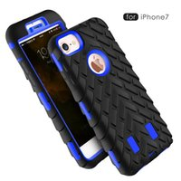 Wholesale Iphone Camo Dhl - Camo Style 2 in 1 Heavy Duty Hybrid Defender Rugged Armor Tire Robot Dual Color Shockproof Hard Cover Case For iPhone 8 7 Plus 6 6S Free DHL