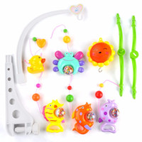 Wholesale Music Box Hanging - Bed Bell Lovely Baby Child Mobile Crib Cartoon Toy Box Wind-Up Music Bell Baby Toys for 0-2 Year old Kids