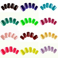 Wholesale artificial fingers - Wholesale Mixed 3 Sets Lot (24pcs set) Artificial Nail Tips Full Cover False Nails Finger DIY Manicure Salon Nail Art Tips Free Shipping