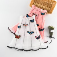 Wholesale Girls Chinese Dresses Wholesale - 2017 fancy dress costumes for kids baby girl butterfly dress baby Yarn skirt Three-dimensional butterfly Children's vest skirt K052
