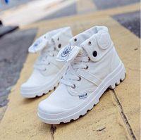 Wholesale Canvas Water Round - Size 35-39 hot sale palladium denim sports shoes women men Casual Shoes flat with high top water wash denim canvas shoes men women's Walking
