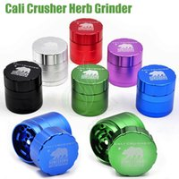 Wholesale aluminium grades - Newest Cali Crusher Grinder 4Layers 42mm 53mm Tobacco metal High Grade Aluminium Alloy Herb Spice Crusher Gift Box herbal vaporizer Grinders