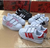 Wholesale Hot Pink Lace Baby - Hot Sale Skateboarding Shoes baby Casual Shoes Superstar Female Sneakers kids Zapatillas Deportivas Mujer Lovers Sapatos Femininos