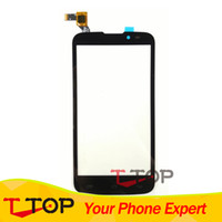 Wholesale Iq Iphone - Wholesale- 100% NEW Touch Panel For Fly IQ4502 IQ 4502 Qud ERA Energy 1 Touch Screen Digitizer Replacement Black Color 1PC Lot