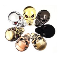 7 couleurs 3D Cool Car styling Metal Skull Skeleton Devil 3D Chrome Auto Emblem Badge Decal Accessoires pour autocars de moto