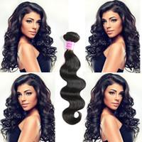 Wholesale per hair resale online - Bemiss Brazilian Virgin Human Hair Weaves Malaysian Indian Peruvian Mongolian Cambodian Unprocessed Natural Color Body Wave g Per