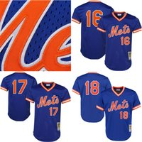 Men black strawberry - Men s New York Mets jerseys Darryl Strawberry Stitched logos Mitchell Ness Royal Cooperstown Mesh Batting Practice baseball jersey