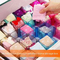 Wholesale Combination Square Tool - High Quality Multifunction Free Combination Home Storage Box Store Storage Socks Underwear Cosmetics Decorations Home Furnishings Rack.