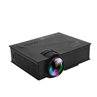 Wholesale Mini Video Projector Full Hd - Wholesale- UC46 Wireless WIFI Mini Projector Portable Full HD LED Video Home Cinema Projector Support Miracast DLNA Airplay USPlug