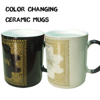 Wholesale Ceramic Mugs best gifts harry potter ceramic heat sensitive magic full color changing mug tea cups DHL Free OTH326
