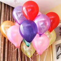 Wholesale Inflatable Ball Set Wholesale - 2017 100pcs Inflatable Ball Latex Balloons Pink Purple Wedding Party Decoration Christmas Halloween Games Supplies
