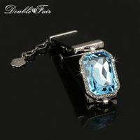 Wholesale Big Diamond Charm Bracelet - AAA+ Crystal Party Bracelets&Bangles Punk Style Stellux Platinum Plated Imitation Gemstone Big CZ Diamond Jewelry For Women DFH201
