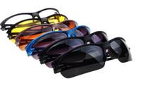 Wholesale Night Goggles Sunglass - New Night vision goggles sunglasses Driving Cycling Spor UV polarized sunglass sport glass new brand men sun glasses good quality