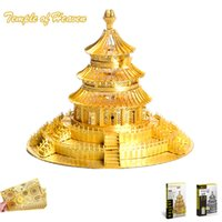 """Wholesale Temple Heaven Puzzle - PieceCool 3D Metal Puzzle """"Temple of Heaven"""" DIY Assembling Model Metal Earth 3D Nano Laser Cut Jigsaw Puzzle for Adults Toys"""