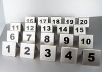 свадебное кафе оптовых-Номер 1-50 Нержавеющая Сталь Таблица Чисел Карты 2 Цвета Маленький Стол Знак Карта Ресторан Отель Кафе Бар Инструменты