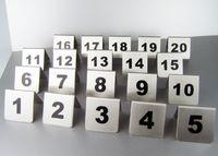 números de ferramentas venda por atacado-Número 1-50 Números de Mesa De Aço Inoxidável Cartões de 2 Cores Pequeno Sinal de Tabela de Cartão de Restaurante Do Hotel Cafe Bar Ferramentas