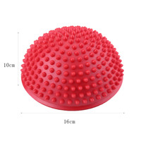 Wholesale Foot Massage Ball pieces PVC Inflatable Half Yoga Balls Massage Point Fitball Exercises Trainer Fitness Balance Ball