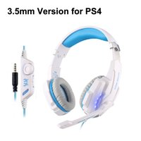 Game Gaming Headphone 3.5mm Headset Fone de ouvido KOTION EACH G9000 Headband com microfone LED Light para laptops Tablet Mobile Phones