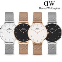 Wholesale Hook Clocks - 2017 New Daniel watches Girls Steel strip 32mm women watches Fashion Luxury Brand Quartz Watch Clock Relogio Feminino Montre Femme