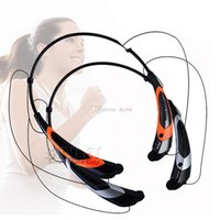 Wholesale Brands Speaker - HBS 760S Headphone Bluetooth Headsets HBS760 Sport Bluetooth Speaker Neckband Earphone Bluetooth 4.0 With Retail Package DHL Free Shipping