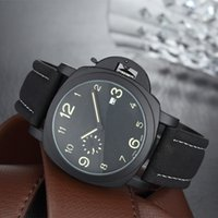 Wholesale Hot Clocks - 17 Styles Hot fashion little subdial work Casual Sport watch men Quartz Watches Men's leather Wristwatches Clock Relogio Super gift for men