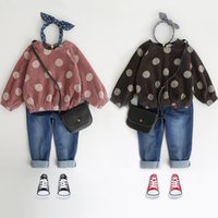 Wholesale wholesale clothing for girls online - Baby Clothing Sets New Kids Dot Top Jean Sets Girl Boys Clothes For Y