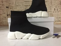 Wholesale Womens Plaid Boots - Hot Sale Sneaker VisVim Casual Shoes New Womens Mens Speed Trainer stretch-knit Mid sneakers Movement creates the future boots high socks