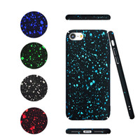 Para Samsung S8 plus Starry Sky Glitter Star Ultra Thin 3D funda rígida para el iphone 7 6s 6 más Opp Bag