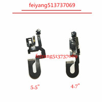 Wholesale iphone proximity light sensor - 1pcs Original Front Camera for iPhone 7 4.7'' Sensor Light Proximity Flex Cable Facing Cam for iphone 7 Plus replacement