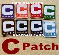 Wholesale Baseball Team Clothing - Custom Captain Patch For American Football Jersey in Any Team Customized Sports Wear Stitched C Accessories Sewn On Any Clothes Men Women
