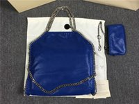 Wholesale Large Christmas Deer - DHL FALABELLA FOLD OVER shaggy deer tote bags women pvc 3chain shoulder bags 37cm*36cm*8cm Stella Mccartney big shopping tote chains 2 bags