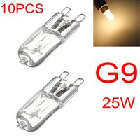 Wholesale G9 Bulb Halogen 25w - 10PCS G9 25W Warm White Halogen Bulb Light Lamp 3000-3500K Globe 230V Capsule Clear Bulbs LED_606