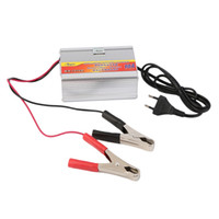 Wholesale Battery Charger Volt - Wholesale- New 12V 10A Car Battery Charger Motorcycle Battery Charger Lead Acid Chargers EU Plug Wholesale